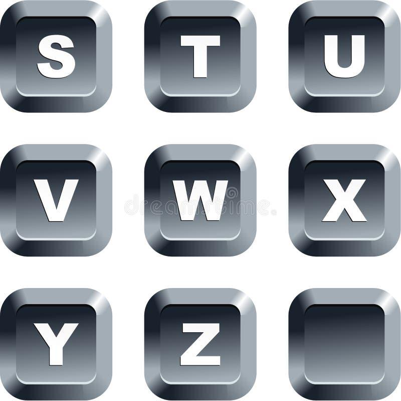 κουμπιά αλφάβητου διανυσματική απεικόνιση