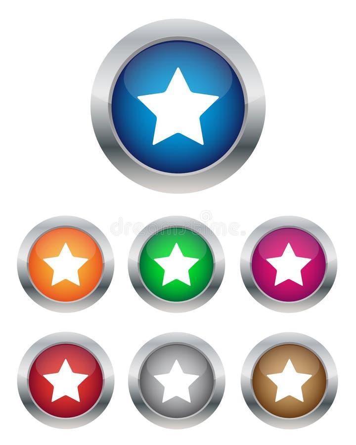 Κουμπιά αστεριών ελεύθερη απεικόνιση δικαιώματος