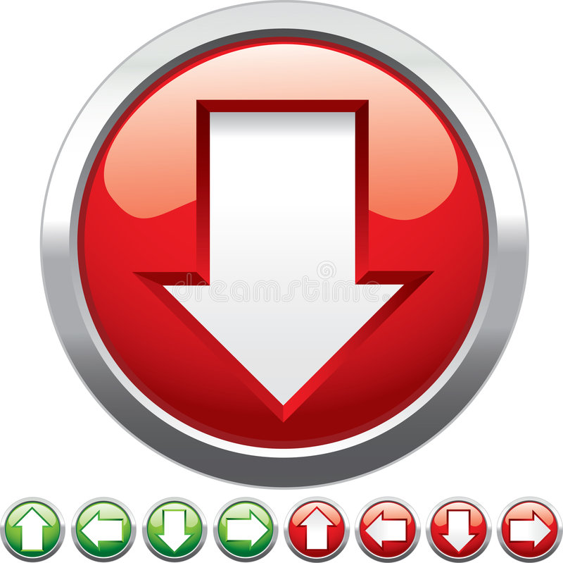 κουμπιά βελών ελεύθερη απεικόνιση δικαιώματος