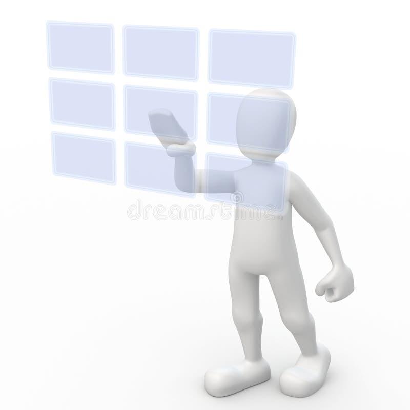 κουμπιά διαφανή απεικόνιση αποθεμάτων
