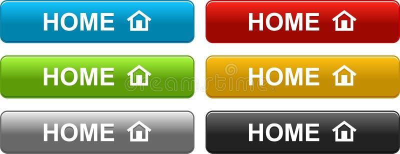 Κουμπιά εγχώριου Ιστού ζωηρόχρωμα στο λευκό απεικόνιση αποθεμάτων