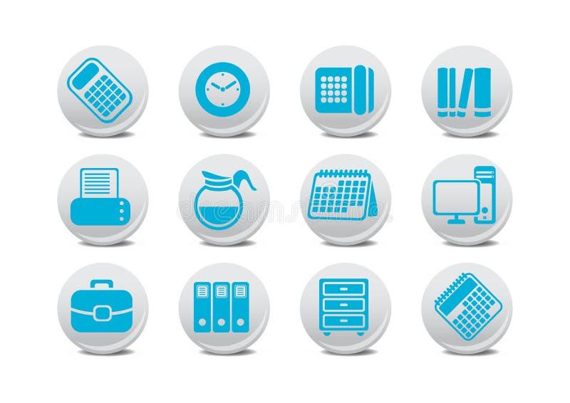 Κουμπιά εξοπλισμού γραφείων ελεύθερη απεικόνιση δικαιώματος