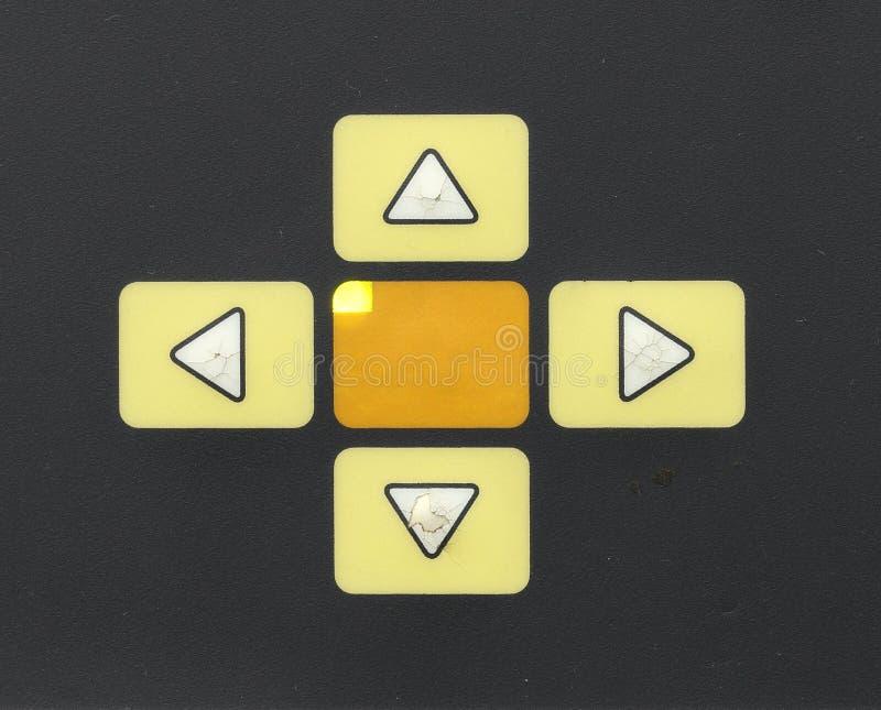 Κουμπιά ελέγχου - επάνω, κάτω από, σωστός, έφυγε στοκ εικόνες με δικαίωμα ελεύθερης χρήσης
