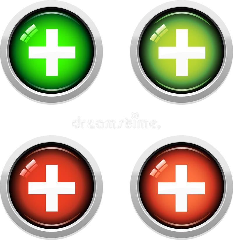 κουμπιά ιατρικά διανυσματική απεικόνιση