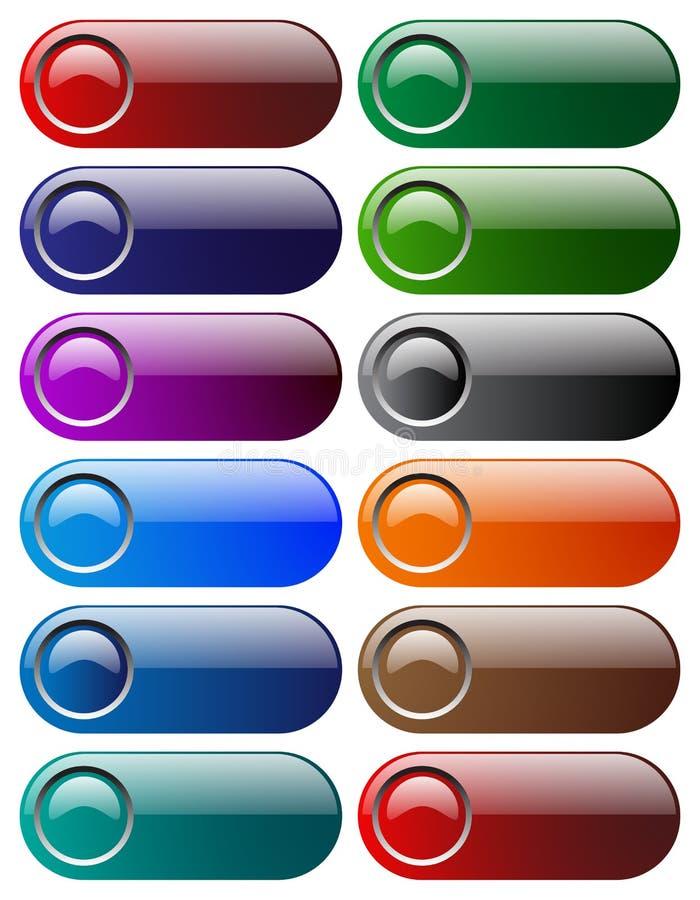 Κουμπιά Ιστού διανυσματική απεικόνιση