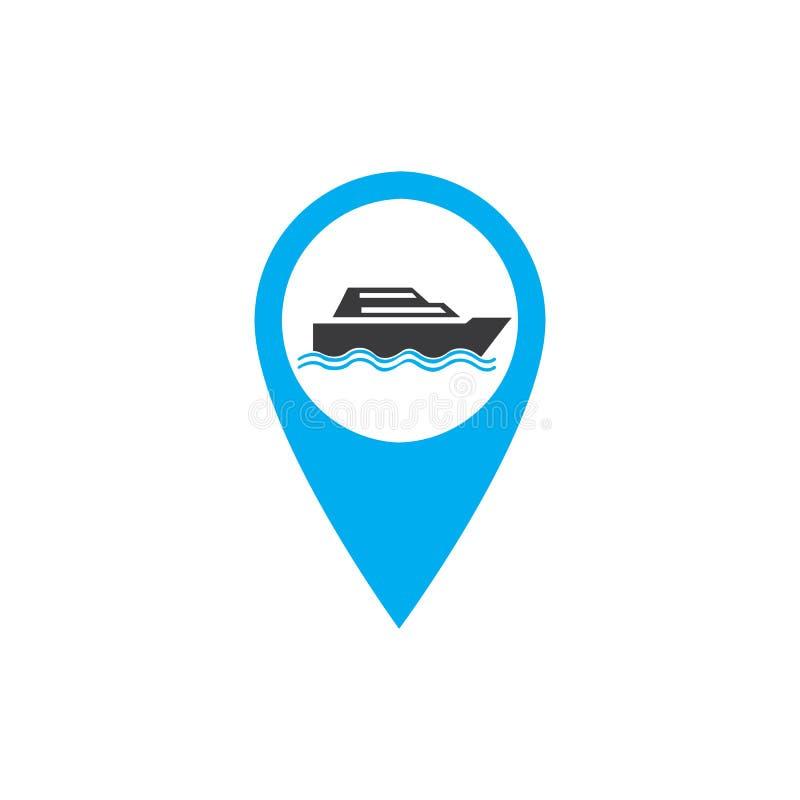Κουμπιά μεταφορών που τίθενται με τη διανυσματική απεικόνιση χαρτών διανυσματική απεικόνιση