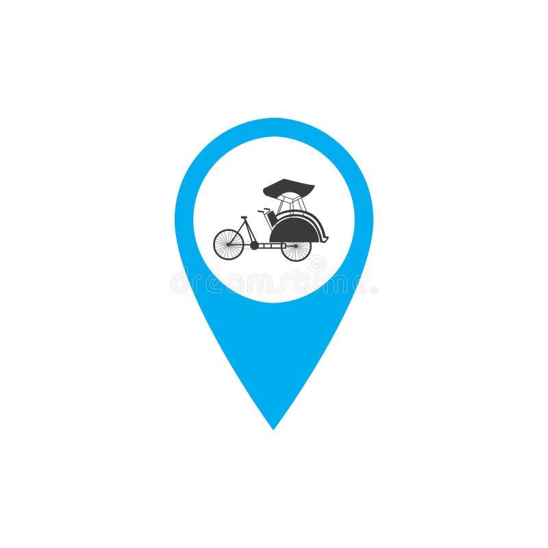 Κουμπιά μεταφορών που τίθενται με τη διανυσματική απεικόνιση χαρτών ελεύθερη απεικόνιση δικαιώματος