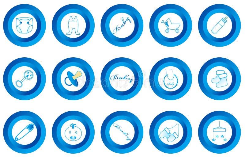 κουμπιά μωρών διανυσματική απεικόνιση