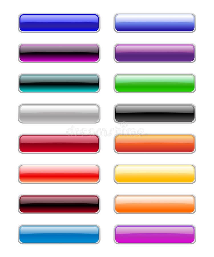 Κουμπιά ορθογωνίων απεικόνιση αποθεμάτων