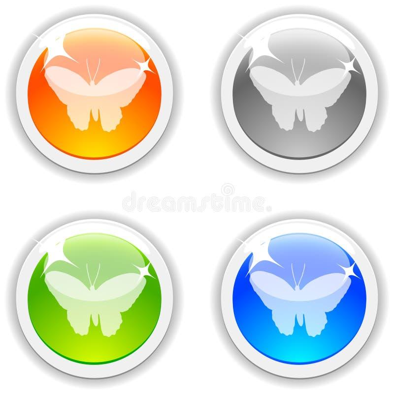 κουμπιά πεταλούδων απεικόνιση αποθεμάτων