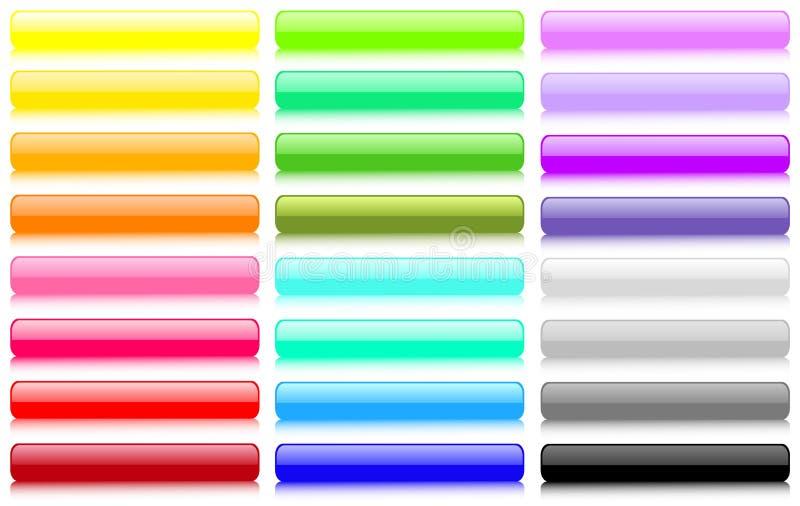 κουμπιά που τίθενται μεγά διανυσματική απεικόνιση