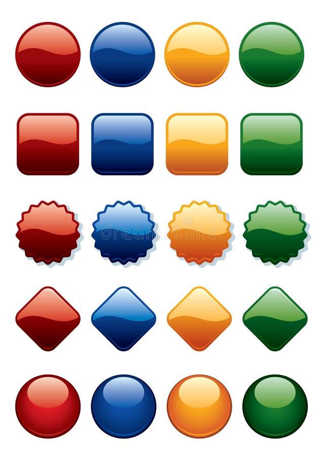 κουμπιά που τίθενται διανυσματική απεικόνιση