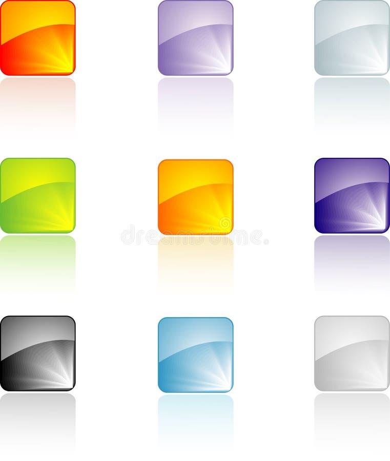 κουμπιά που τίθενται ελεύθερη απεικόνιση δικαιώματος