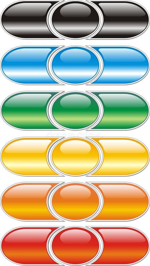 κουμπιά που χρωματίζοντα& απεικόνιση αποθεμάτων