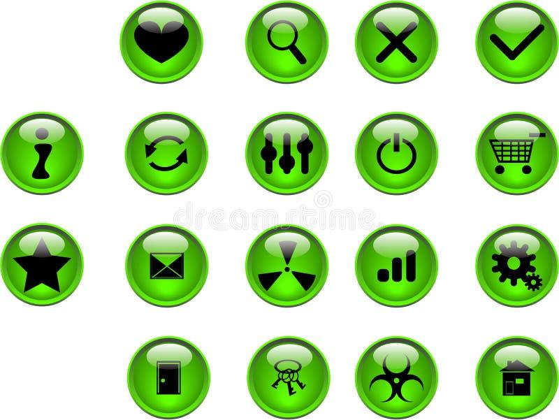 κουμπιά πράσινα ελεύθερη απεικόνιση δικαιώματος
