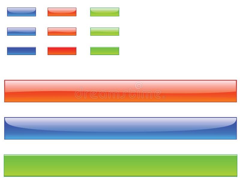 κουμπιά ράβδων ελεύθερη απεικόνιση δικαιώματος
