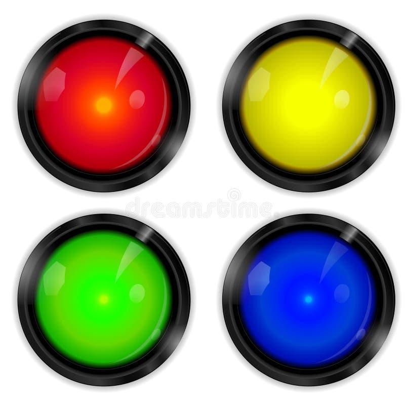 Κουμπιά Arcade Στοκ Εικόνες