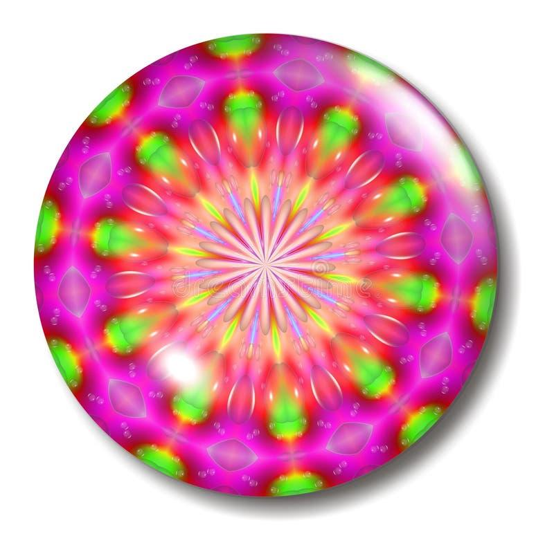 κουμπώστε το flourescent πράσινο ρό&del διανυσματική απεικόνιση