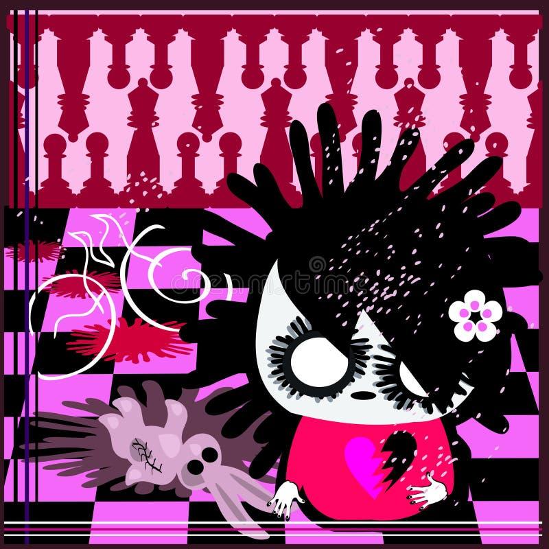 κουνέλι Μαρτίου emo σκακιού ελεύθερη απεικόνιση δικαιώματος
