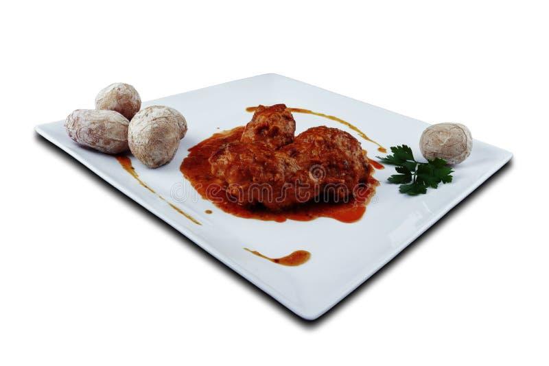 Κουνέλι στη σάλτσα salmorejo στοκ εικόνες