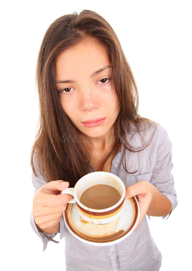 κουρασμένη πρωί γυναίκα στοκ εικόνες