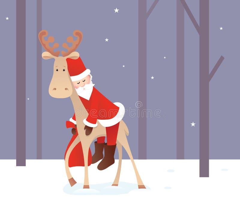 Κουρασμένος Άγιος Βασίλης απεικόνιση αποθεμάτων