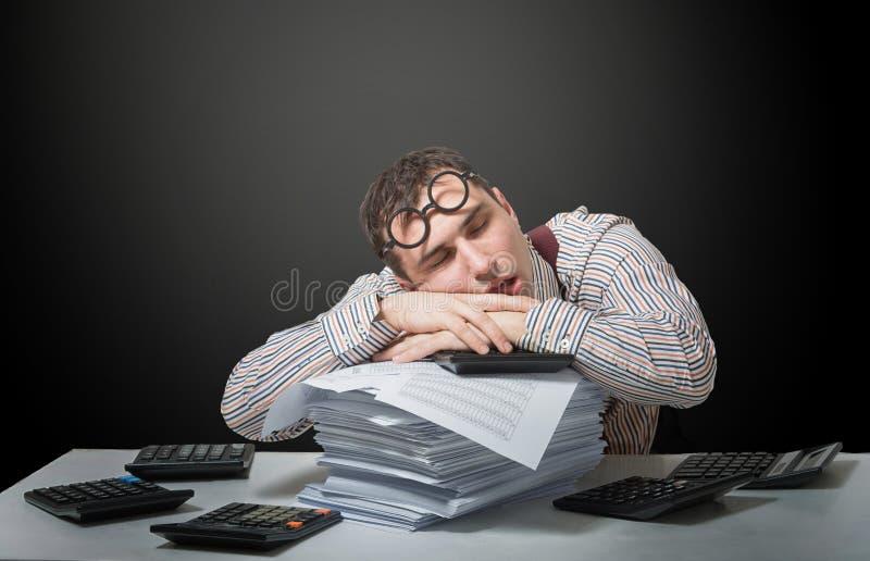 Κουρασμένος λογιστής στοκ φωτογραφίες με δικαίωμα ελεύθερης χρήσης