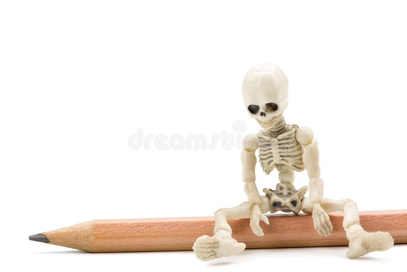 Κουρασμένος σκελετός στοκ εικόνες