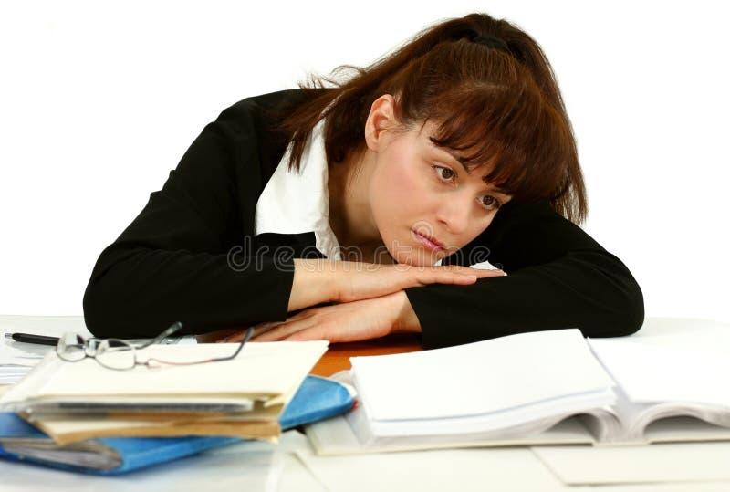 Κουρασμένος της εργασίας στοκ φωτογραφία με δικαίωμα ελεύθερης χρήσης