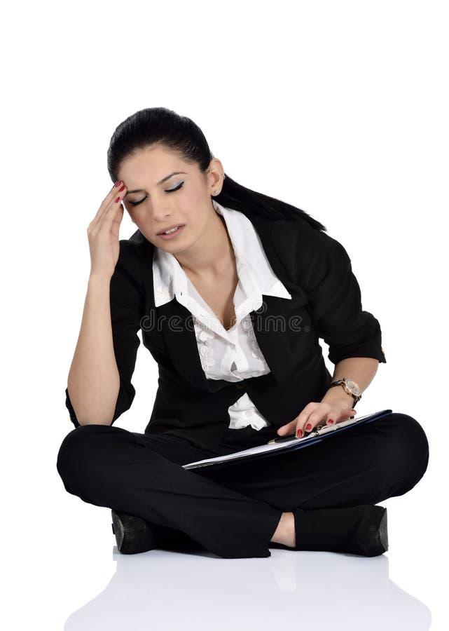 Κουρασμένο καταθλιπτικό επιχειρησιακό πρόσωπο στοκ φωτογραφία
