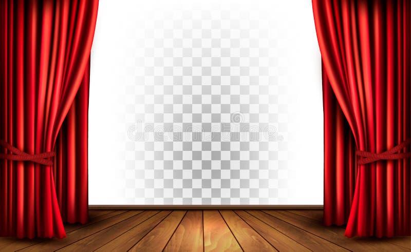 Κουρτίνες θεάτρων με ένα διαφανές υπόβαθρο ελεύθερη απεικόνιση δικαιώματος