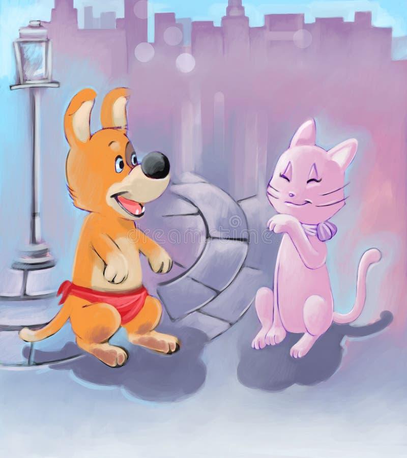 κουτάβι γατών διανυσματική απεικόνιση