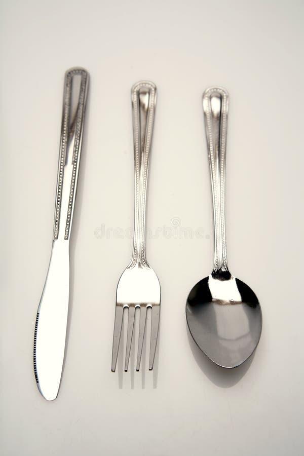 κουτάλι μαχαιριών δικράνων στοκ φωτογραφίες