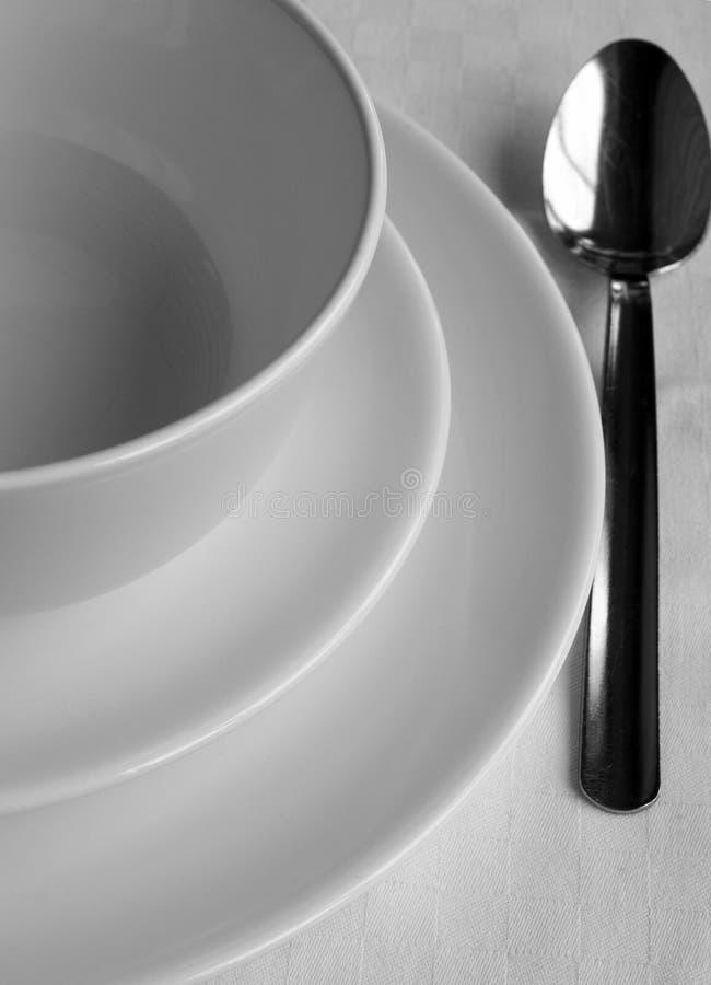 κουτάλι πιάτων στοκ εικόνες με δικαίωμα ελεύθερης χρήσης