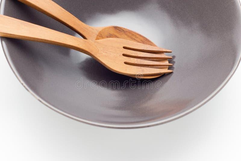 Κουτάλι στο πιάτο στοκ φωτογραφίες