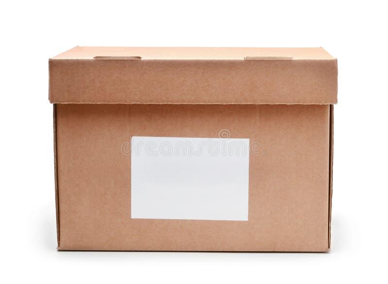 Κουτί από χαρτόνι που απομονώνεται στο άσπρο υπόβαθρο στοκ φωτογραφία