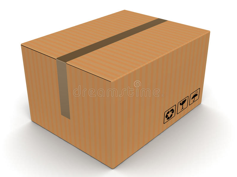 Κουτί από χαρτόνι απεικόνιση αποθεμάτων