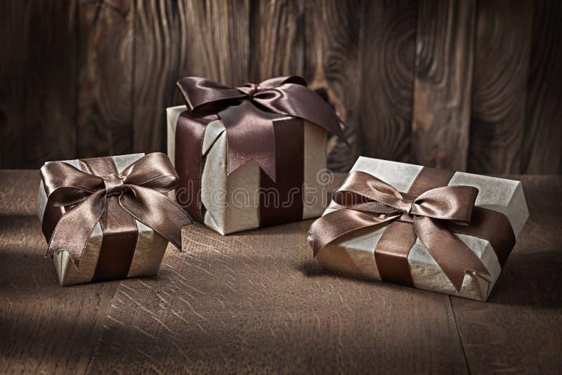 Κουτιά δώρων από ξύλο στοκ φωτογραφίες με δικαίωμα ελεύθερης χρήσης
