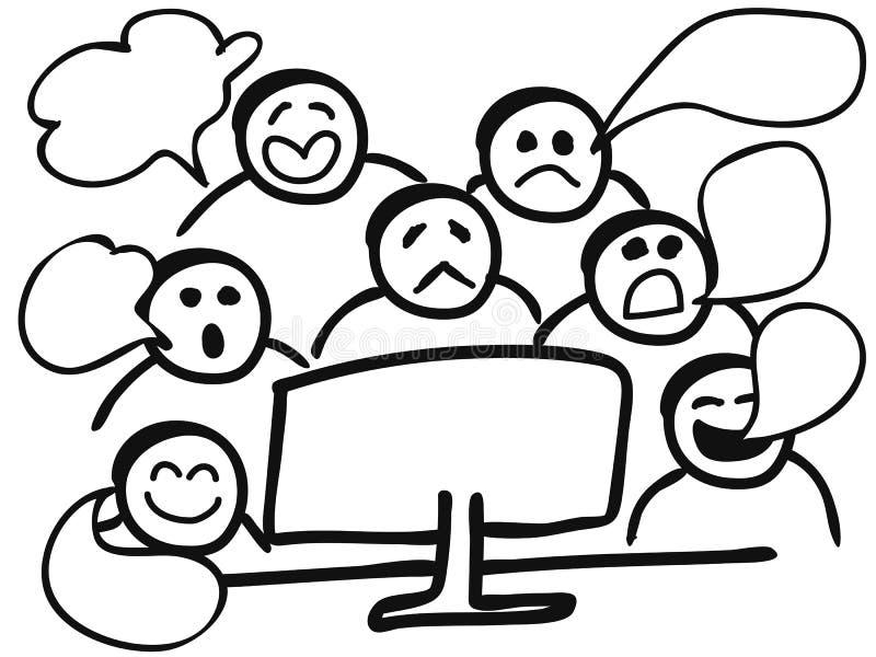 Κουτσομπολιό υπολογιστών ελεύθερη απεικόνιση δικαιώματος