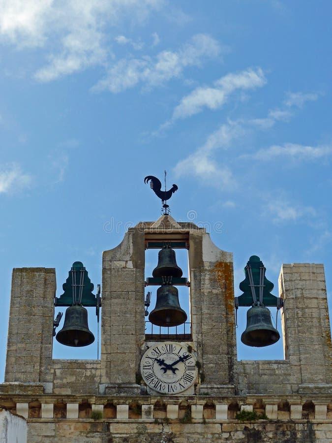 Κουδούνια καθεδρικών ναών, Faro, Πορτογαλία στοκ φωτογραφία