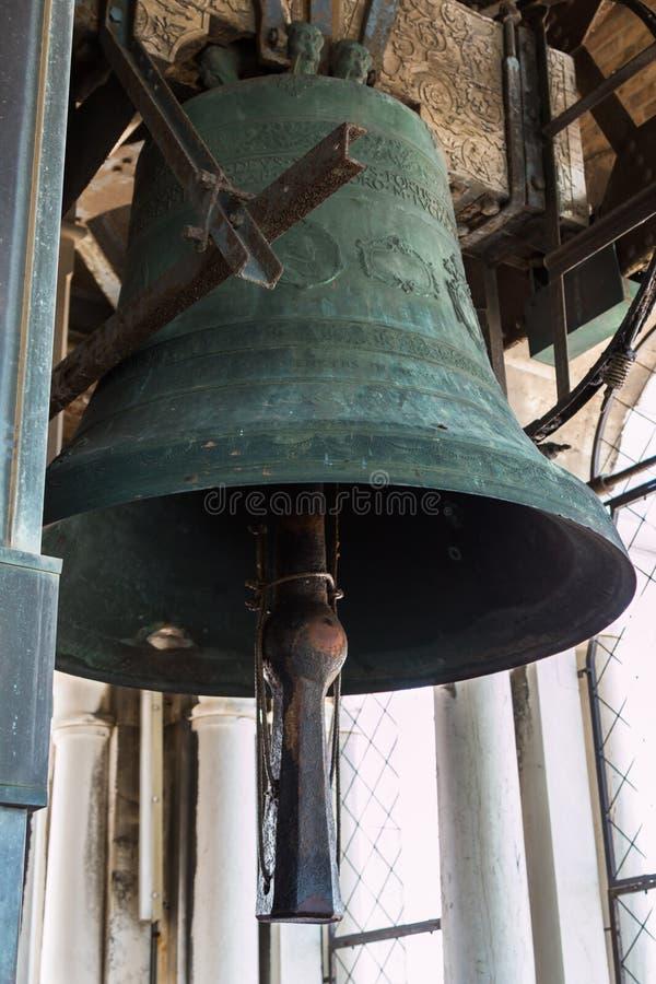 Κουδούνι χαλκού πάνω από τον πύργο SAN Marco στη Βενετία, Ιταλία στοκ εικόνα με δικαίωμα ελεύθερης χρήσης