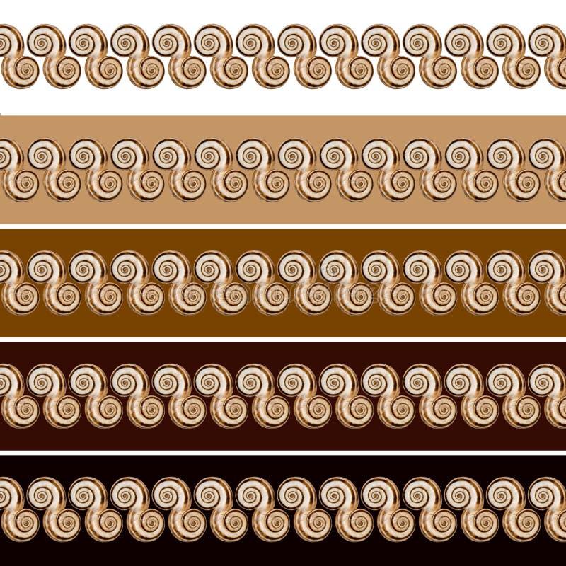 κοχύλια επικεφαλίδων απεικόνιση αποθεμάτων