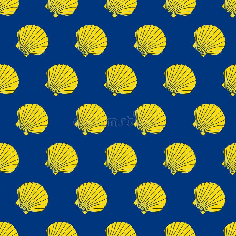 Κοχύλια οστράκων Σημάδι Camino de Σαντιάγο seamless διανυσματική απεικόνιση