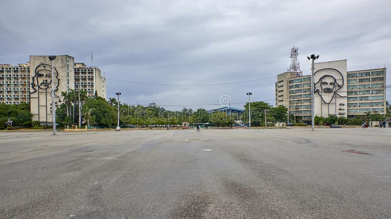 Κούβα Αβάνα τετράγωνο επαναστάσεων εικόνων της Αβάνας guevara της Κούβας Φεβρουάριος κτηρίου 24 2009 che στοκ φωτογραφία με δικαίωμα ελεύθερης χρήσης