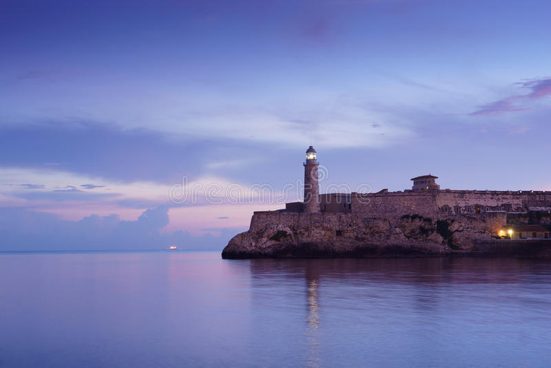 Κούβα, καραϊβική θάλασσα, habana Λα, Αβάνα, morro, φάρος στοκ φωτογραφία με δικαίωμα ελεύθερης χρήσης