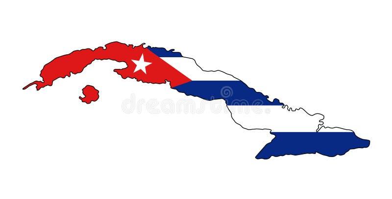 Κούβα Χάρτης της διανυσματικής απεικόνισης της Κούβας ελεύθερη απεικόνιση δικαιώματος