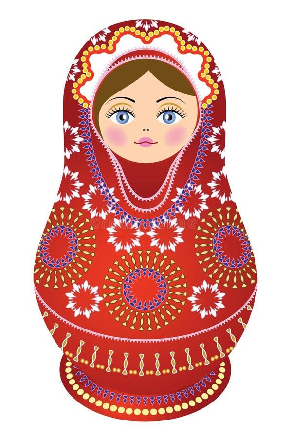 κούκλα τα κόκκινα ρωσικά Στοκ Εικόνες