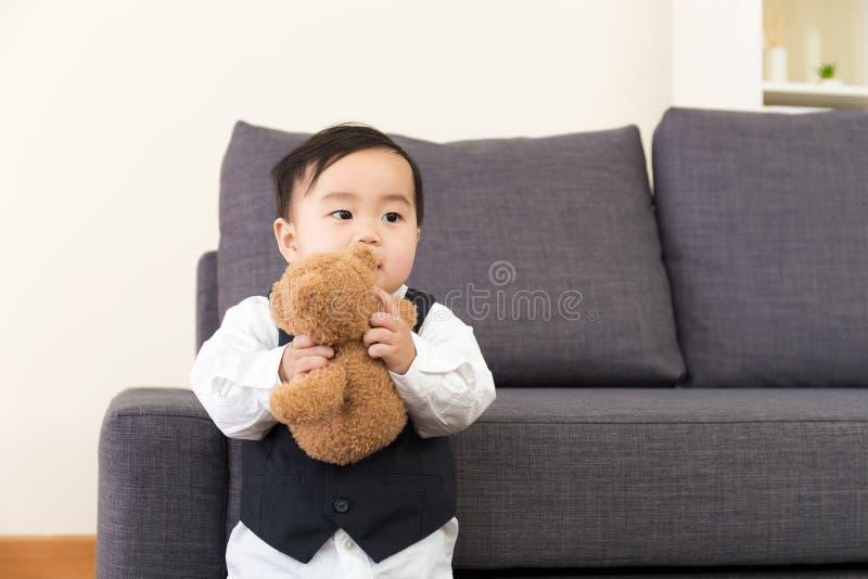 Κούκλα παιχνιδιού μικρών παιδιών της Ασίας στοκ εικόνες με δικαίωμα ελεύθερης χρήσης
