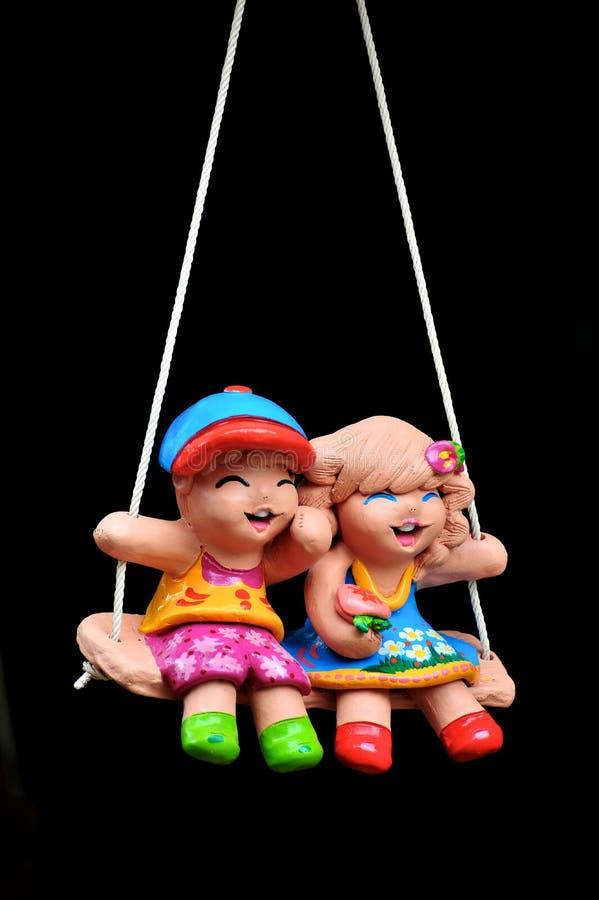 Κούκλα παιδιών πήλινου είδους στοκ εικόνες
