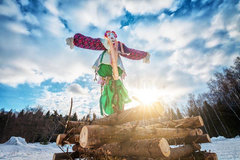 Κούκλα Maslenitsa στοκ φωτογραφίες